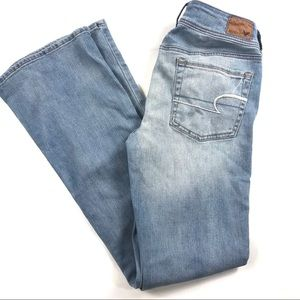 American Eagle Kick Boot Jeans Light Wash Sz 6R